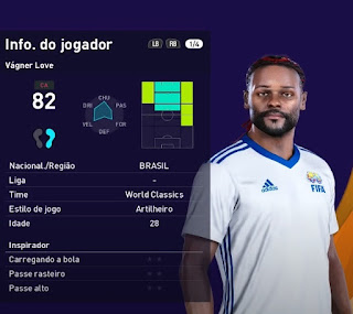 PES 2021 Faces Vagner Love