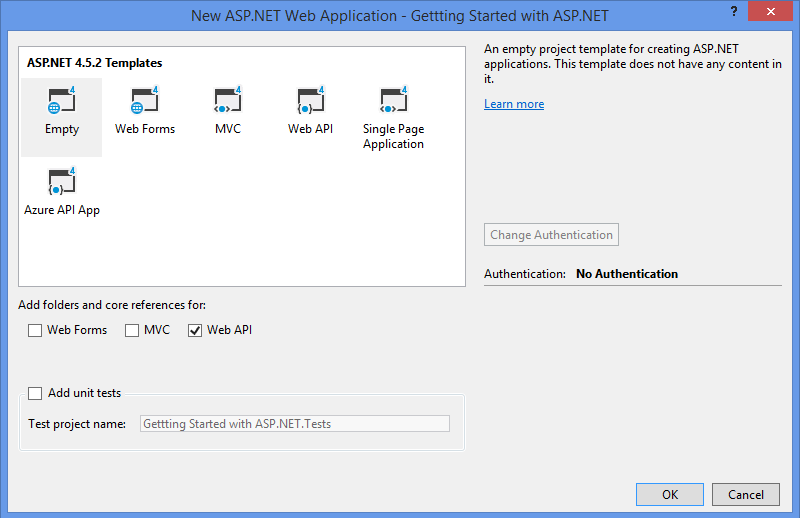 Getting started with ASP.NET Web Api