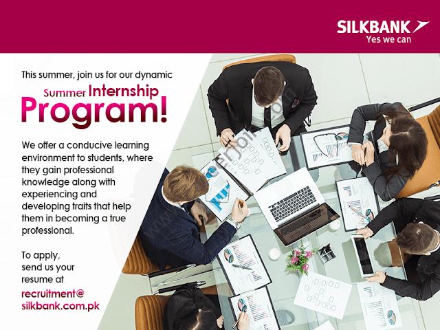 Silkbank Summer Internship Program 2019