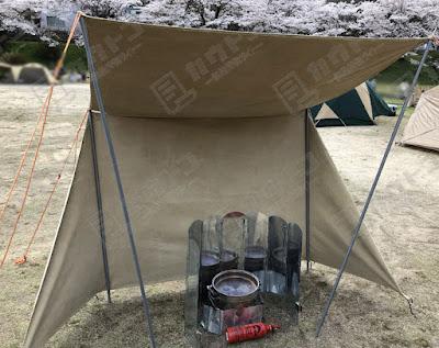 キャンプ ウィンドスクリーンと壁テントレビュー