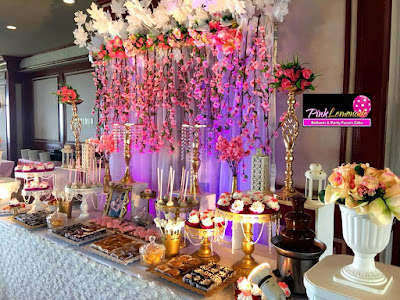 cherry blossoms themed Wedding Dessert buffet