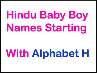 Modern Hindu Baby Boy Names Starting With H
