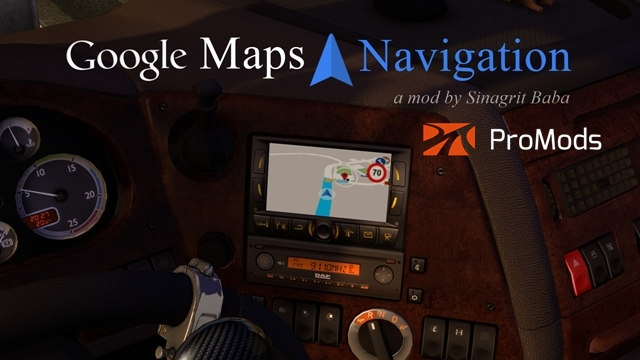 cover ets 2 google maps navigation for promods