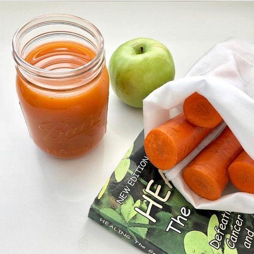 Jus wortel mix apel jeruk mint