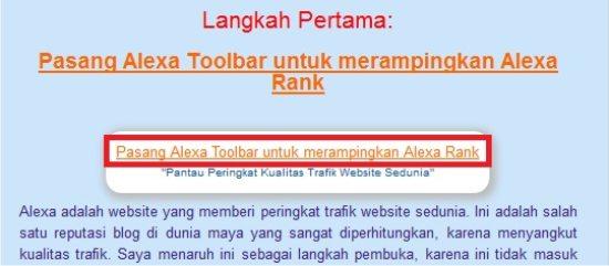 Tampilan homepage tanpa memuat image