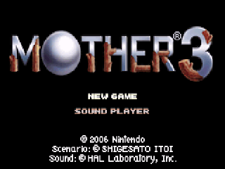 Mother 3 - Pantalla de título RPG