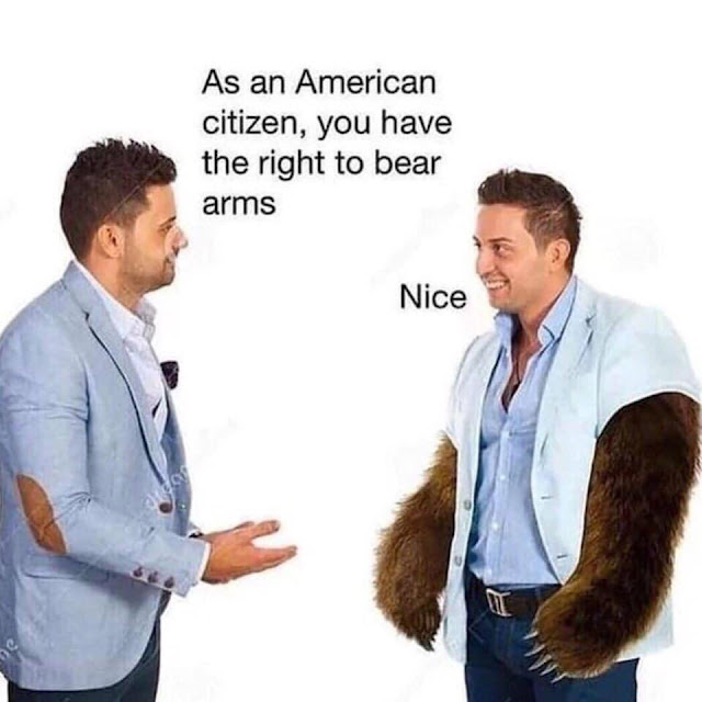 As an American citizen, you have the right to bear arms
