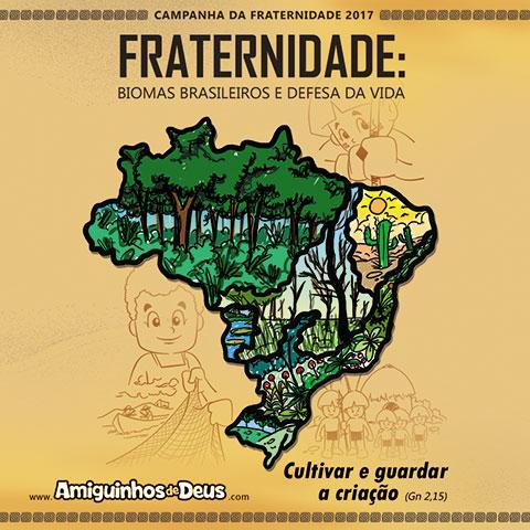 desenho cartaz da campanha da fraternidade 2017