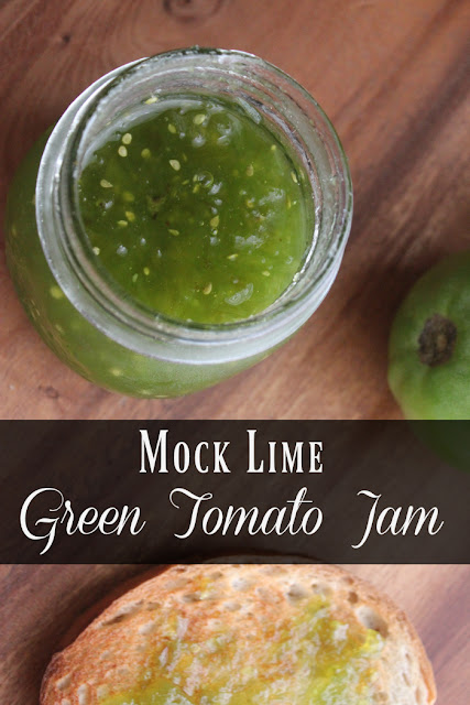 This tasty recipe uses green tomatoes and gelatin to create a mock lime jam.