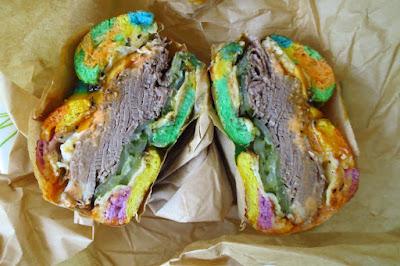 Two Men Bagel House, Mrs Reuben rainbow bagel