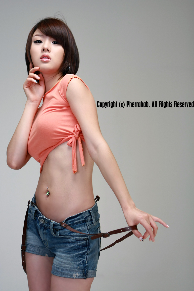hwang mi hee sexy orange dress pics 03