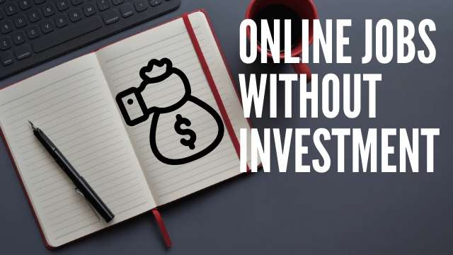 online job without investment