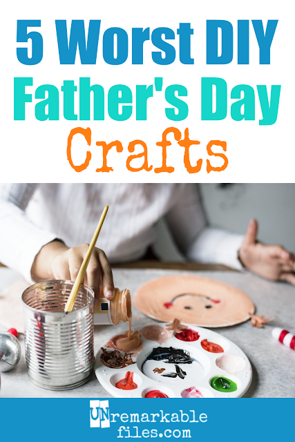 Most Father's Day craft ideas for preschoolers or toddlers to make are basically junk. There, I said it. Most of the time, they're just not something dad will want to keep or use, which means they'll end up in the trash or smooshed in the back of a closet somewhere. Here are the 5 worst Father's Day DIY crafts from kids, plus a simple DIY Father's Day gift he's guaranteed to like that is way better for everyone. #fathersday #craft #gift #kids