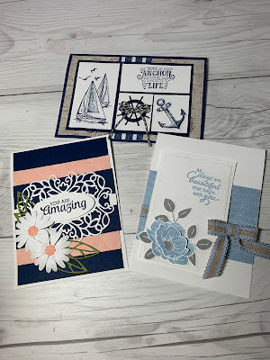 Cards we'll make in Coffee and Crafts Class August 5 2019, Houston TX