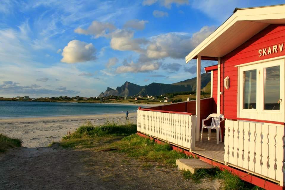 Nuestra cabaña en la bahía de Ramberg, Islas Lofoten.