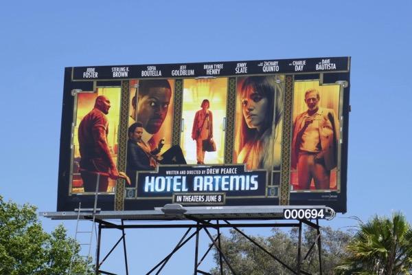 Hotel Artemis movie billboard