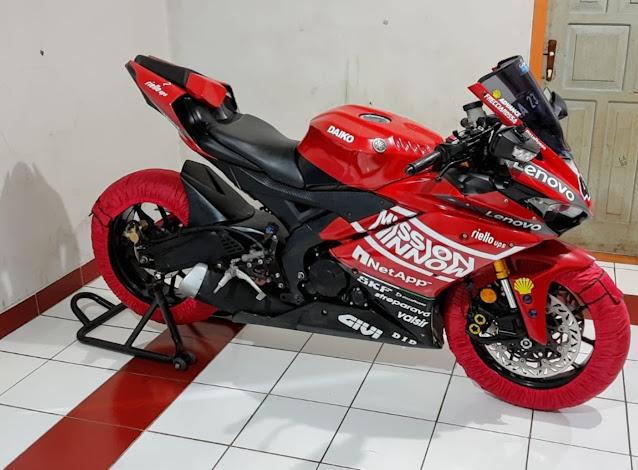 Modifikasi R15 Livery Ducati MotoGp 2020, Sepakat !! Gahar !
