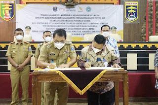 Bank Lampung & Pemkot Metro MoU  Optimalisasi Penerimaan PAD