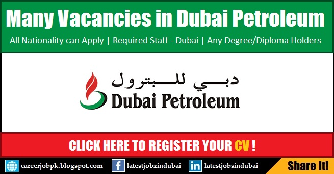 Oil and Gas Jobs in Dubai Petroleum Establishment
