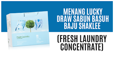 Menang Lucky Draw Sabun Basuh Baju Shaklee (Fresh Laundry Concentrate)