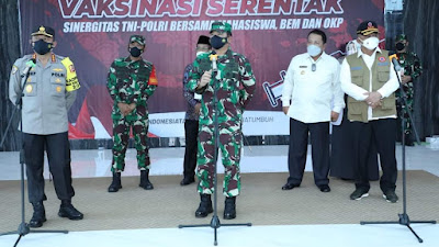 Panglima TNI Apresiasi Serbuan Vaksinasi UIN Lampung