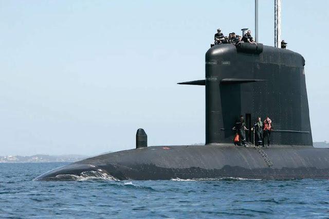 SSN 'Saphir' (S-602) de la Clase Rubis de la Marine Nationale. Foto - Marine Nationale.
