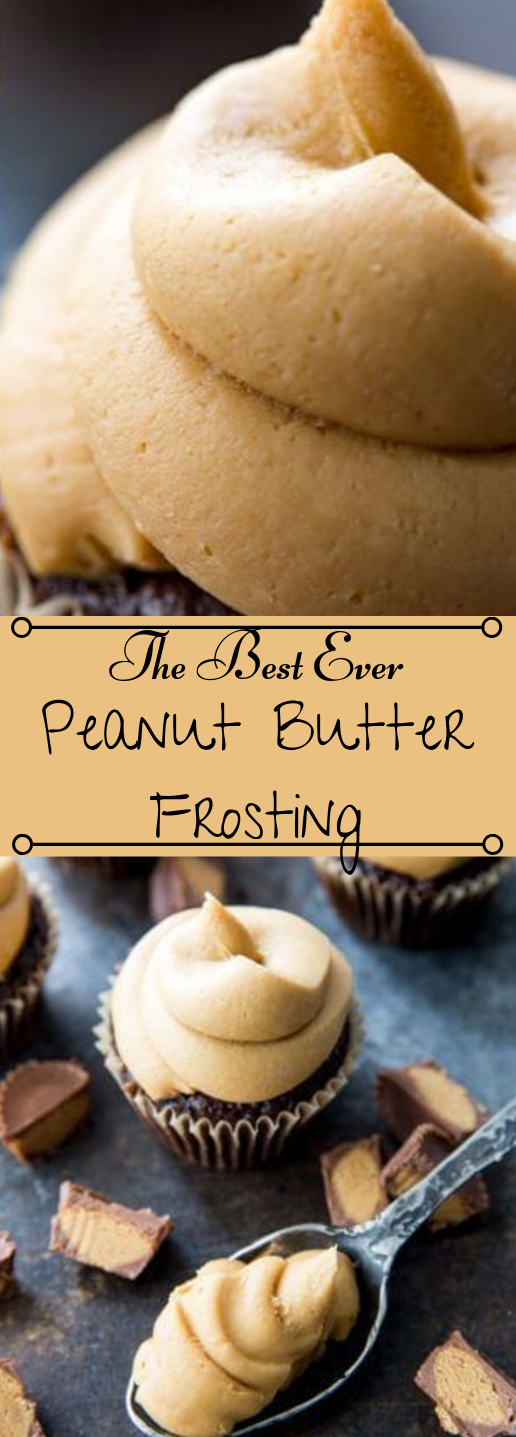 Peanut Butter Frosting #desserts #cakes #butter #peanut #easy