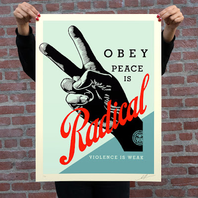 """OBEY Giant """"Obey Radical Peace"""" Screen Prints by Shepard Fairey"""