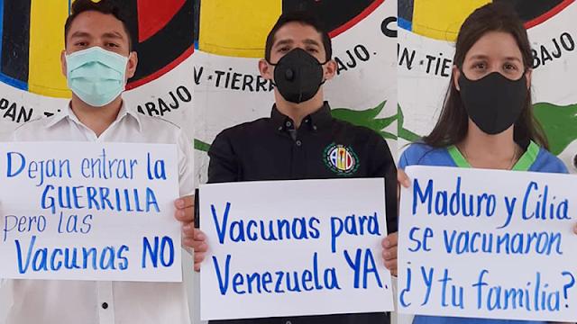 JUVENTUD DE AD TORRES EXIGE INGRESO DE VACUNAS Y PLAN DE VACUNACIÓN