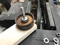 Assembling the pulley