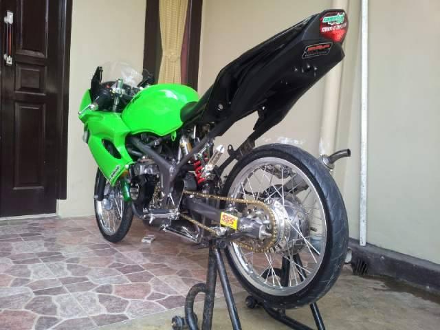7 Gambar Modifikasi Motor Ninja Rr 150 Cc 2 Tak Warna Hijau