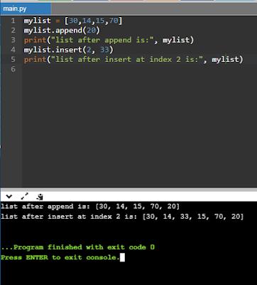 Python Lists - append vs insert CBSE Class 11 - Informatics Practices - Python Basics - List Manipulation (Part-2) - Question and Answers (#eduvictors)(#class11Python)