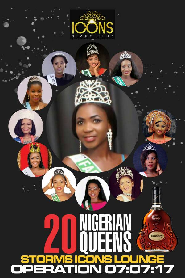 20 Nigerian Queens to storm Icons Lounge Aba