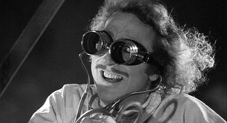 Gene Wilder als Frederick Frankenstein in Mel Brooks' FRANKENSTEIN JUNIOR (1974). Quelle: 20th Century Fox Blu-ray