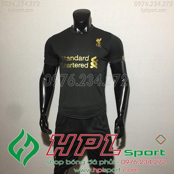 Áo bóng đá câu lạc bộ Liverpool đen 2020