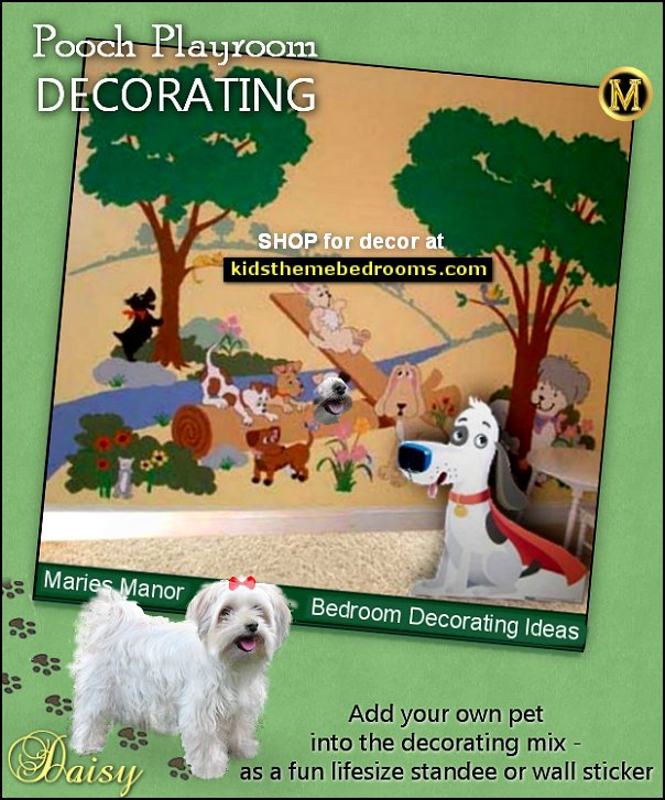 Puppy Playground Mural  pooch playroom puppy playground pets bedroom decorating