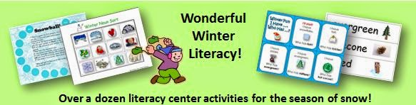 http://www.teacherspayteachers.com/Product/Wonderful-Winter-Literacy-14-K-2-Center-Activities-169428