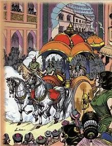 mahabharat-hindi-story-mythology-kahani-Krishna-Ka-Duauty-hastinapur-aagman-parshuram