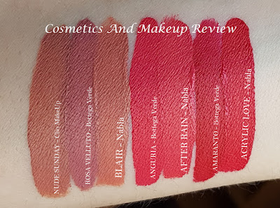 Nabla - Love kit - swatches e comparazioni