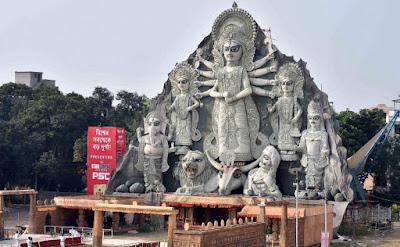 Kolkata Durga Puja 2016 Photos with celebration