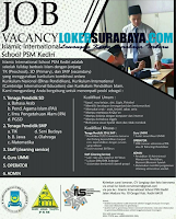 Job Vacancy at Islamic International School PSM Kediri Januari 2020