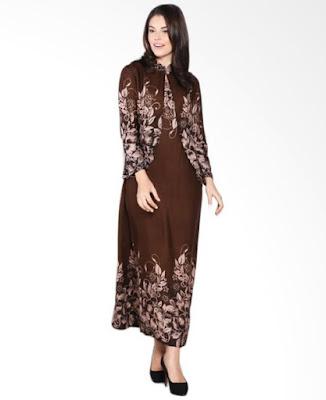 Model Gamis Batik Orang Gemuk berhijab