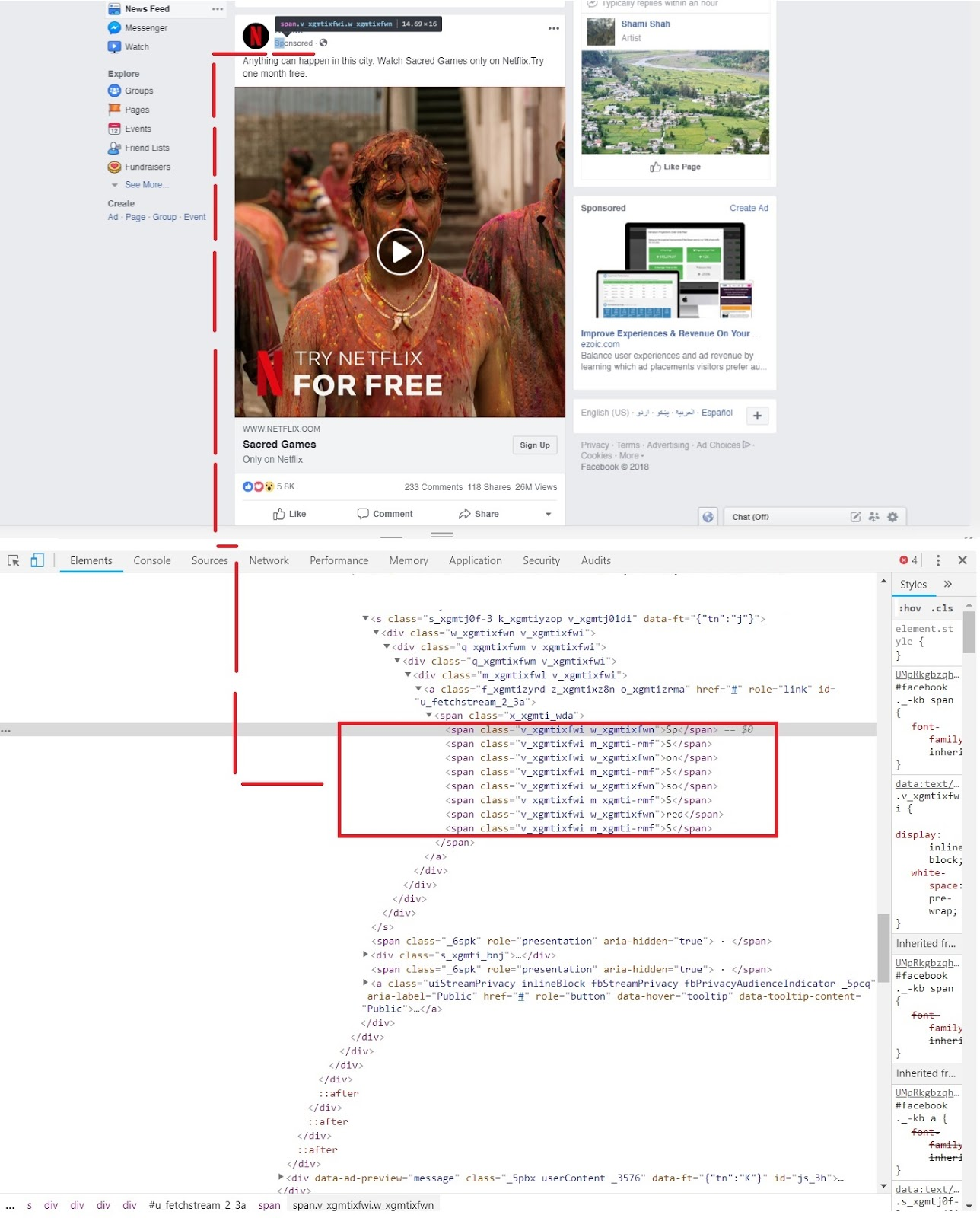 Facebook uses 'divide and rule policy' in its source code to show the ads to users who use ad blockers
