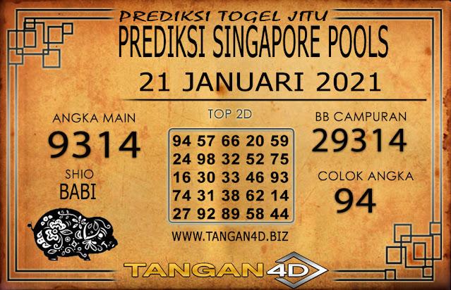 PREDIKSI TOGEL SINGAPORE TANGAN4D 21 JANUARI 2021