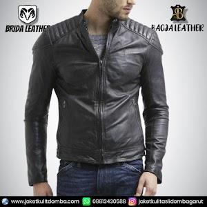Jual Jaket Kulit Asli Garut Pria Domba Original Brida Leather B69 | WA 08813430588