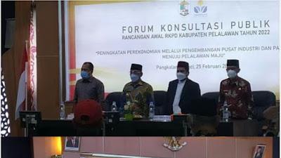 Pemkab Pelalawan Membuka Forum RKPD 2022, Bupati HM Harris: Perbedaan Pilihan di Pilkada 2020 Tidak Dicampur Adukkan Dengan Pembangunan.