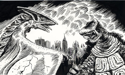 Gamera vs. Gyaos by Christianne Benedict