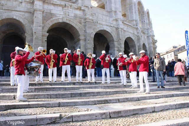 Banda musicale all'Anfiteatro Romano
