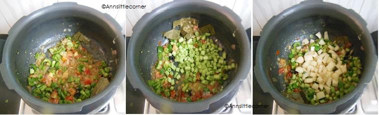 How to make Broken Wheat Biryani - Step 3