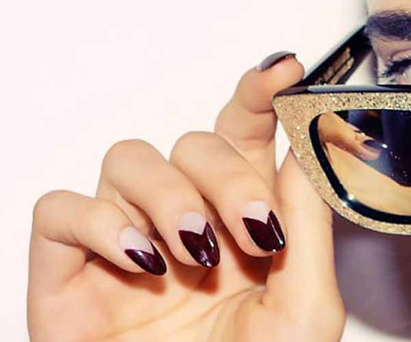 Cute Nail Designs with Modern Half Moo